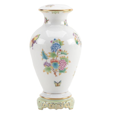 "Herend ""Queen Victoria"" Porcelain Table Lamp Base"