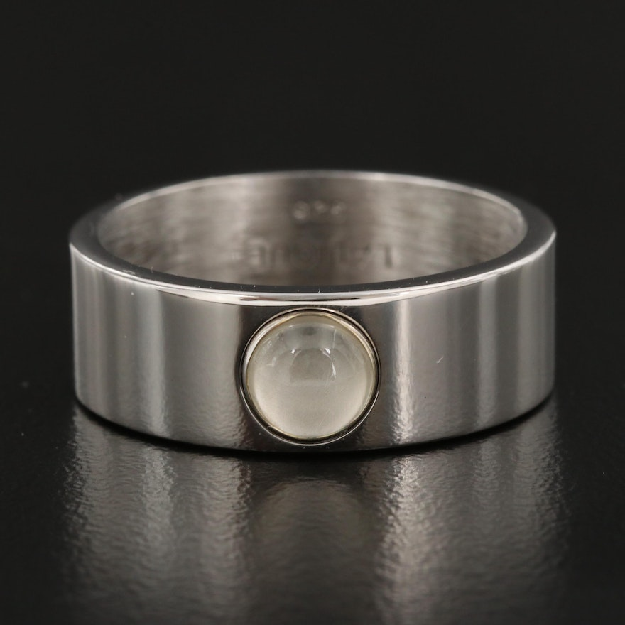 Lalique Sterling Crystal Ring with Ring Box