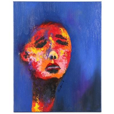 "Oluwakemi Omowaire Oil Painting ""Finding Balance"", 2020"