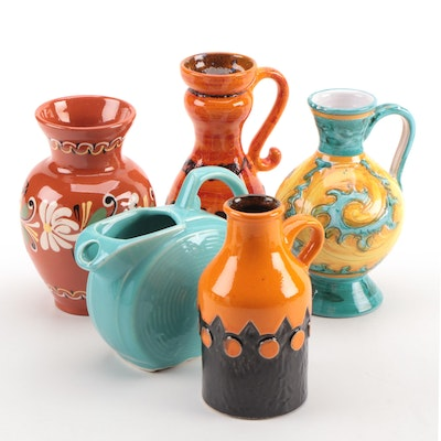 Jasba Mid Century Modern Jug with Other Ceramic Pitchers and Vase