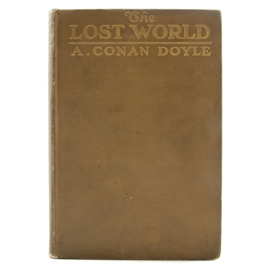 """1912 First American Edition """"The Lost World"""" by Sir Arthur Conan Doyle"""