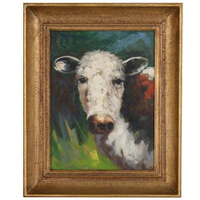 Oil Painting with Cow, 21st Century