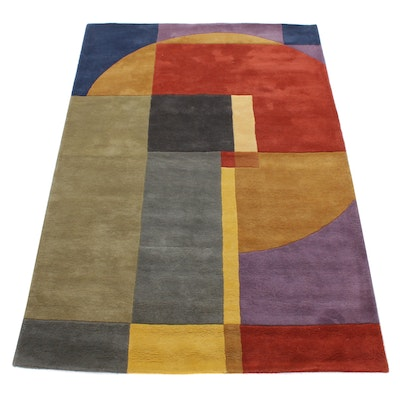 5'4 x 8' Hand-Tufted Indo-Persian Gabbeh Rug, 2000s