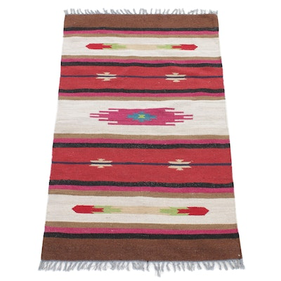 3'1 x 5'3 Handwoven Indo-Turkish Kilim Rug, 2000s