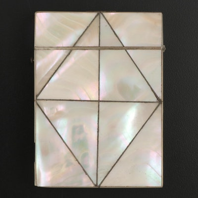 Victorian Mosaic Mother-of-Pearl Card Case, Late 19th Century