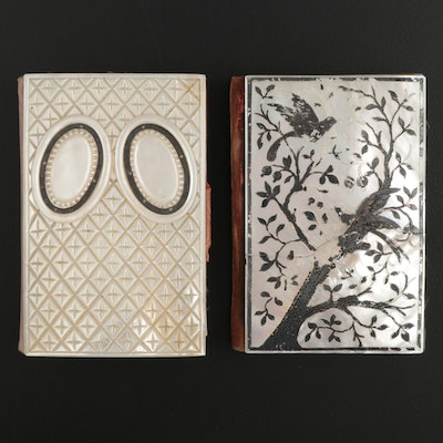 French Carved Mother-of-Pearl Souvenir Booklets, Late 19th Century