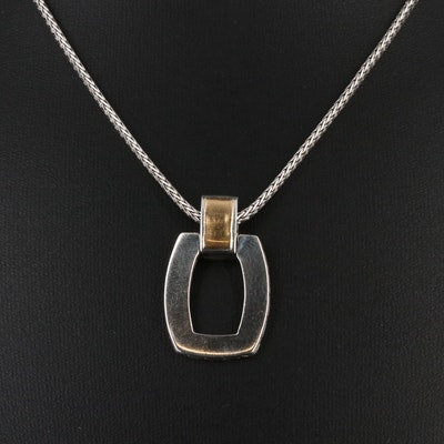 John Hardy Sterling Pendant Necklace with 22K Accents