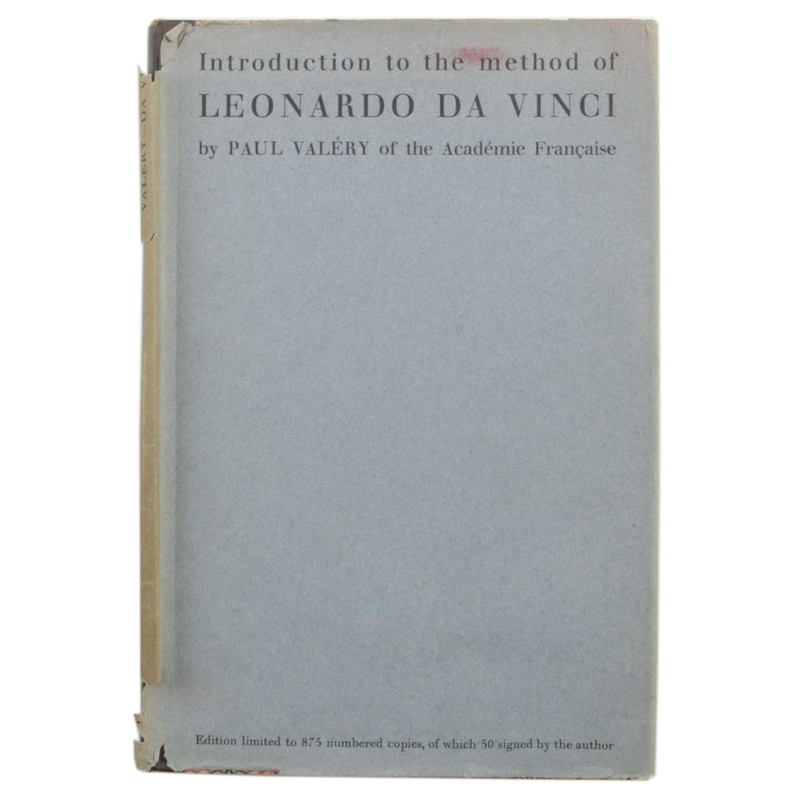 """1929 Limited Edition """"Introduction to the Method of Leonardo Da Vince"""" by Valéry"""