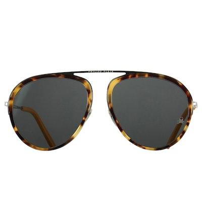Philipp Plein Records Original Black and Tortoiseshell Style Sunglasses