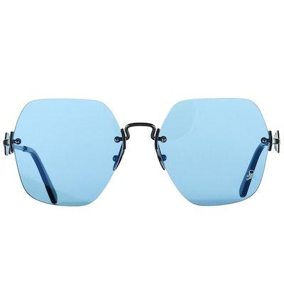Philipp Plein Statement Blue Sunglasses