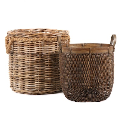 Large Decorative Baskets, Contemporary