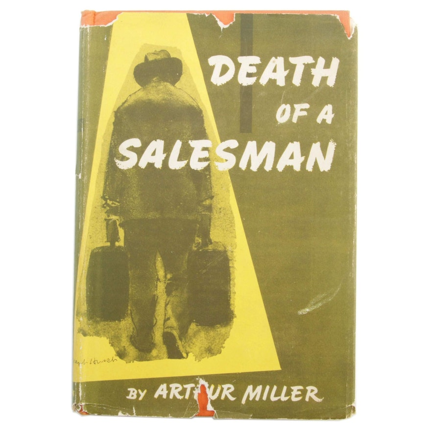 """1949 """"Death of a Salesman"""" by Arthur Miller, Book of the Month Club Selection"""