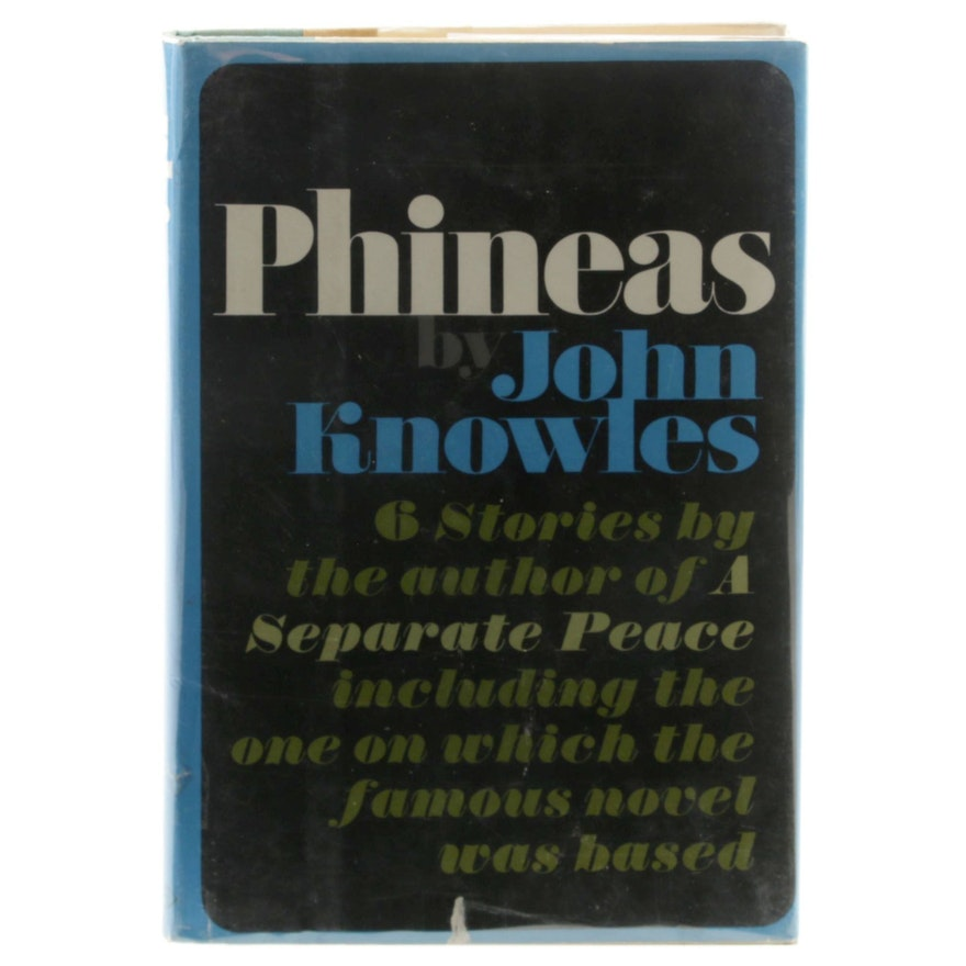 """1968 First Printing """"Phineas: Six Stories"""" by John Knowles"""