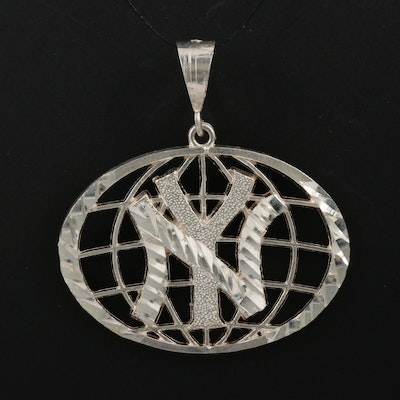Sterling Silver New York Yankees Emblem Pendant