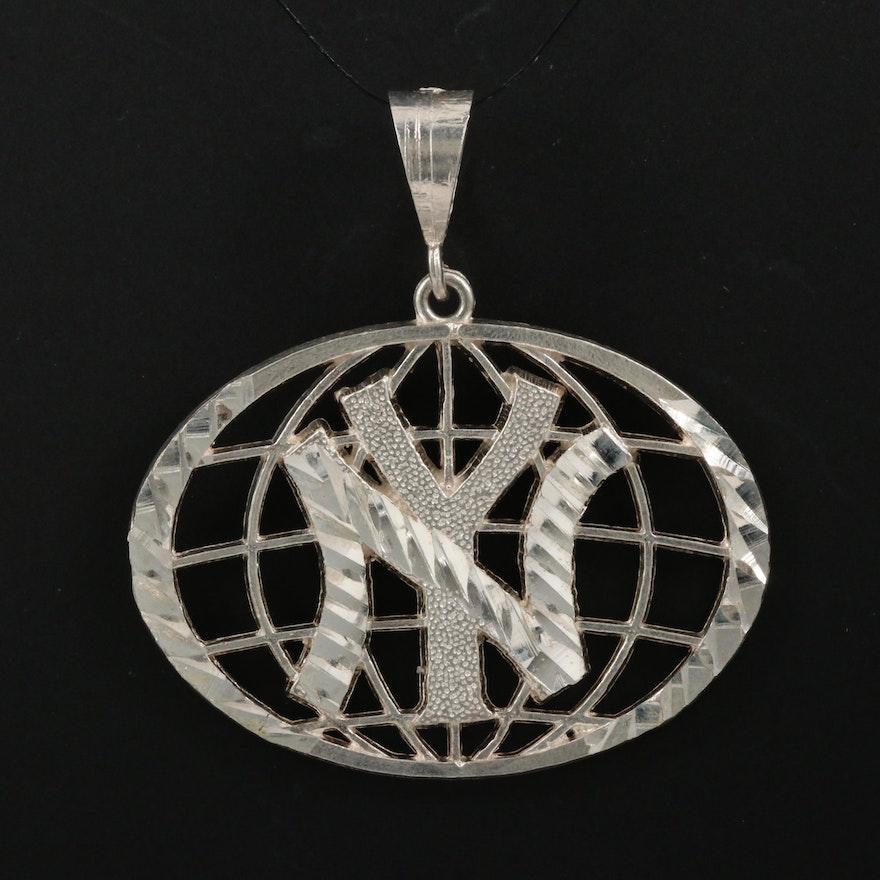 Sterling Silver New York Yankees Emblem Pendant