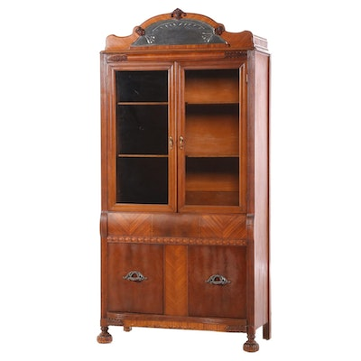 Walnut China Cabinet, Circa 1930