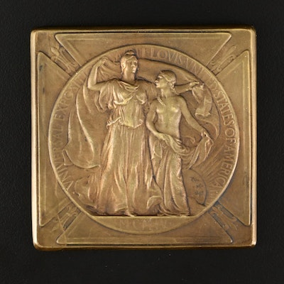 1904 Saint Louis World's Fair Bronze Medal by Adolph Weinman