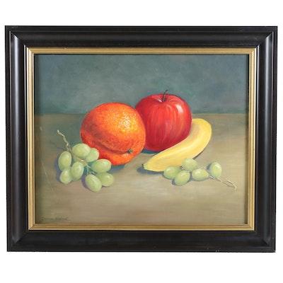 Donna Gepfert Still Life of Fruit Oil Painting