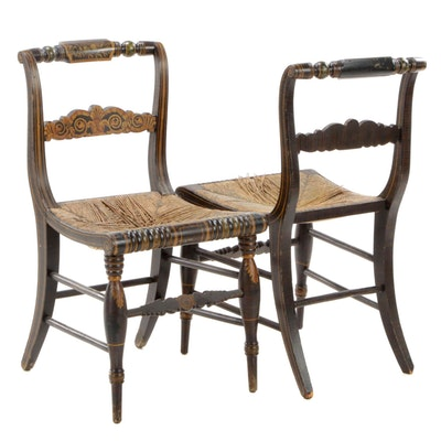 Pair of American Federal Paint-Decorated Fancy Chairs, Early 19th Century