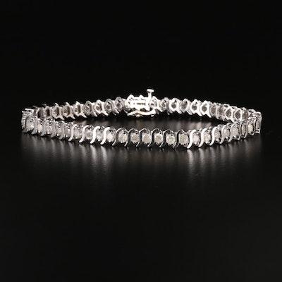 10K 5.00 CTW Diamond Line Bracelet