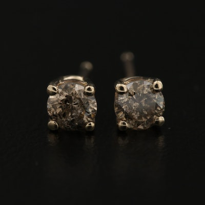 14K 0.50 CTW Diamond Stud Earrings