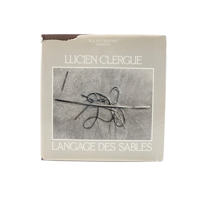 "Signed First Edition ""Langage Des Sables"" by Lucien Clergue"