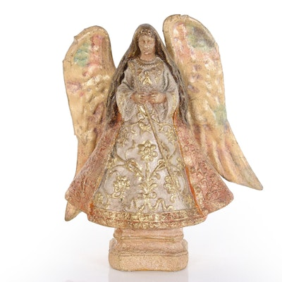 Silvestri Hand-Painted Angel Figurine, Mid to Late 20th Century