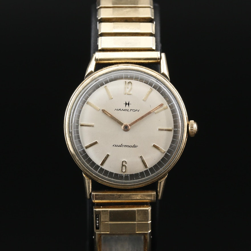 Vintage Hamilton Rolled Gold Plate Automatic Wristwatch