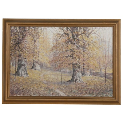 Attributed to William Eyden, Sr. Watercolor Landscape Painting