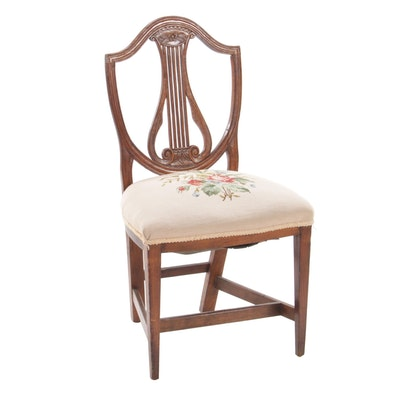 Hepplewhite Shield-Back Side Chair in Elm, Circa 1800