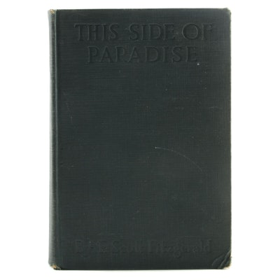 "1920 Early Printing ""This Side of Paradise"" by F. Scott Fitzgerald"