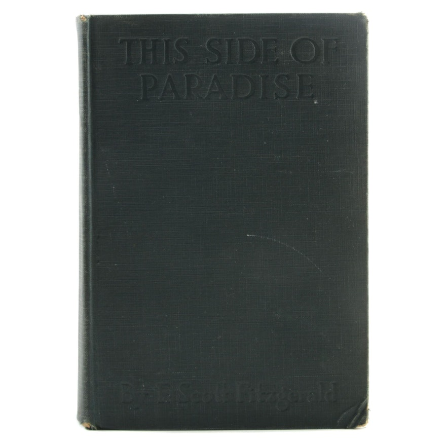 """1920 Early Printing """"This Side of Paradise"""" by F. Scott Fitzgerald"""