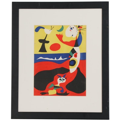 "Joan Miró Color Lithograph ""L'Été"" for ""Verve,"" 1938"