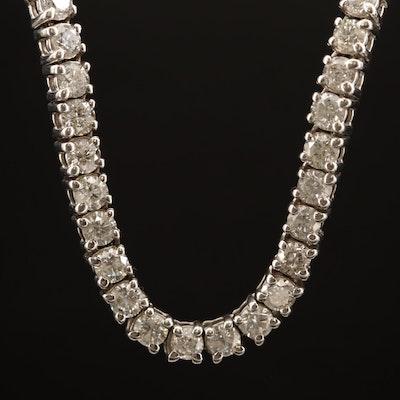 14K  30.00 CTW Diamond Rivière Necklace