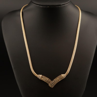 14K 2.00 CTW Diamond Chevron Necklace