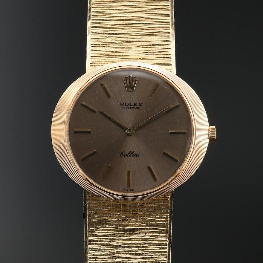 14K Rolex Cellini Stem Wind Wristwatch