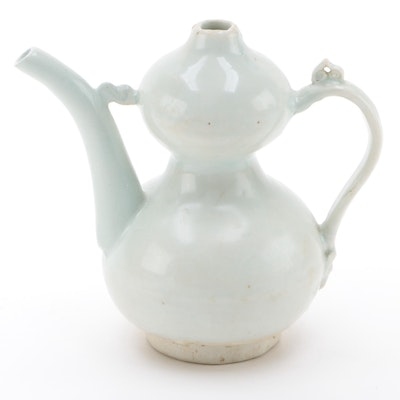 Chinese Celadon Porcelain Double Gourd Wine Pot