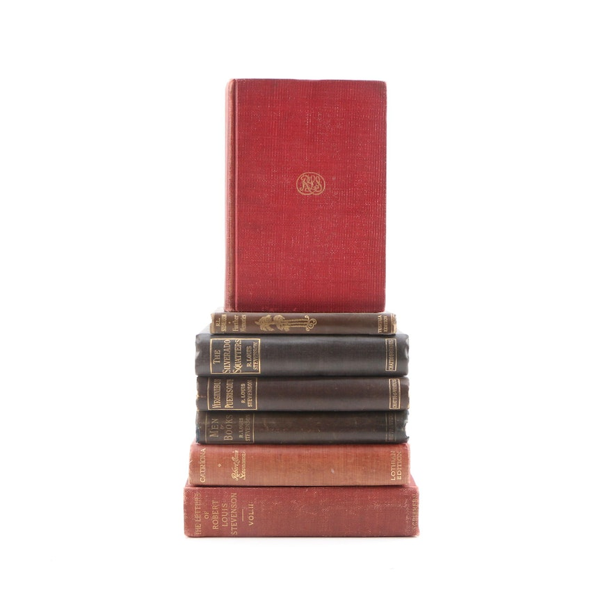 """The Letters of Robert Louis Stevenson"" with Other Stephenson Volumes"