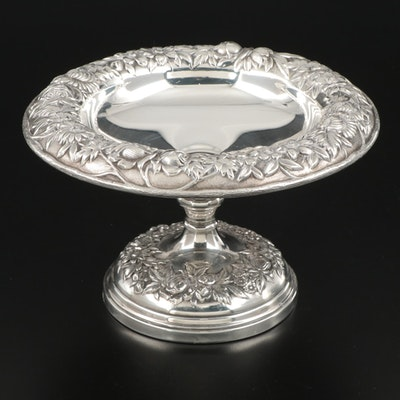 "S. Kirk & Son ""Repoussé"" Weighted Sterling Silver Compote"