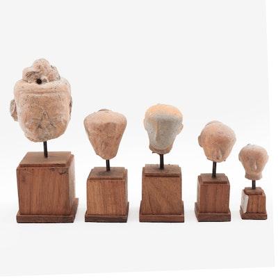 Southeast Asian Terracotta Head Sculptures