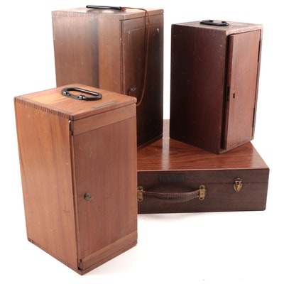 Manufacturer and Personal Wooden Storage Cases/Boxes, Early to Mid 20th C.