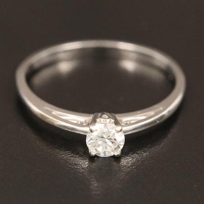 14K 0.34 CT Diamond Solitaire Ring