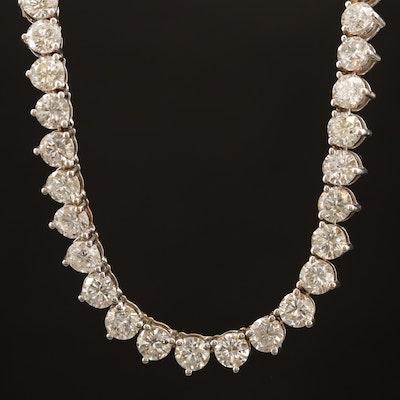 18K 23.60 CTW Diamond Rivière Necklace