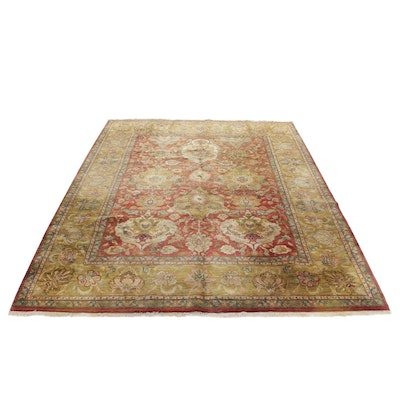 10'2 x 14'1 Hand-Knotted Indo-Persian Sultan Abad Room-Size Rug