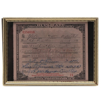 Depression Era National Prohibition Act Medicinal Form for Alcohol, 1929