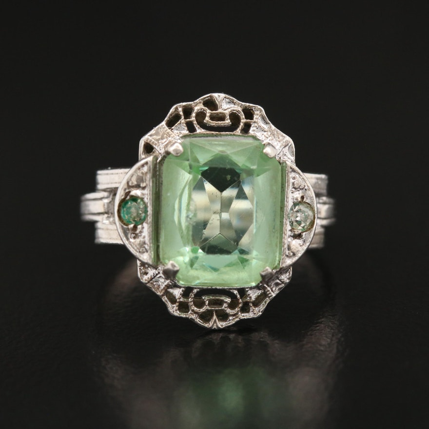 Sterling Glass Ring