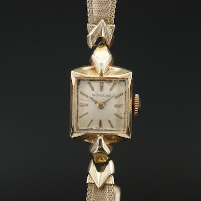 14K Wittnauer Stem Wind Wristwatch
