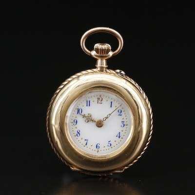 14K Swiss Antique Pocket Watch
