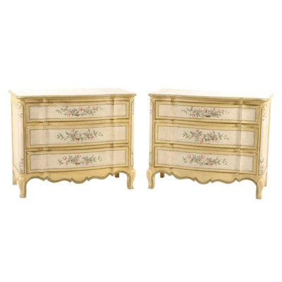 Baker Furniture French Provincial Style Chests, Pair, Late 20th Century