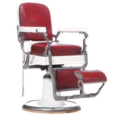 Koken Hydraulic Barber's Chair, Mid-20th Century